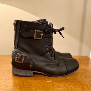 Dolce Vita Leather Combat Style Boots